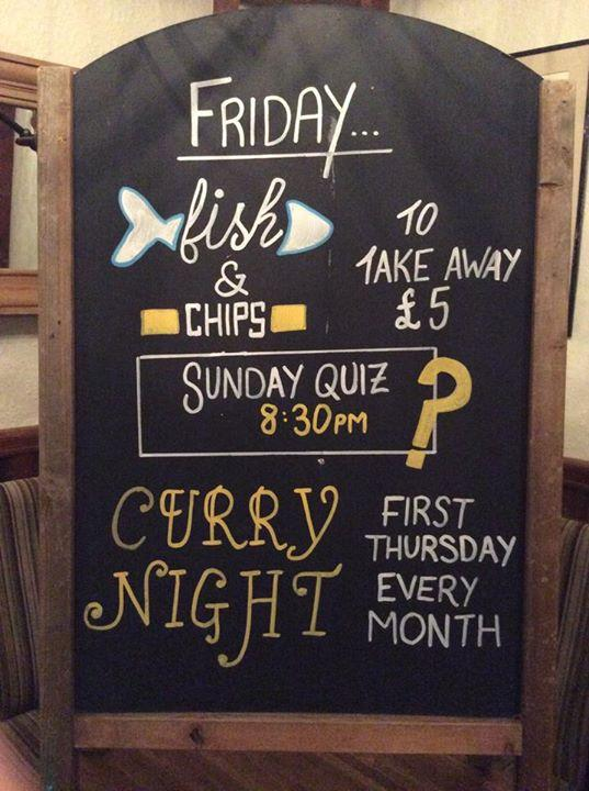 Don't forget you can take away fish and chips on a Friday night !! | Angarrack Inn
